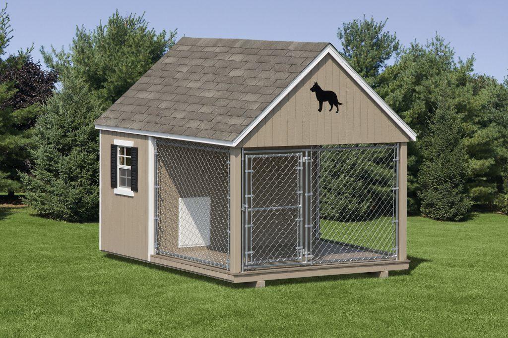 chenil pour chien de jardin